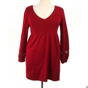 Alfani Red dress with cutout sleeves
